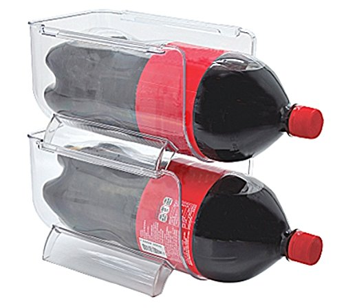 Implemento Refrigerator and Cabinet Space Saver Stackable Bins for 2 Liter Soda or Large Bottle - Set of 2 (Soda Holder Fridge compare prices)