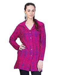 Montrex Pink Designer Long Coat For Women