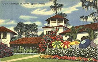 Clubhouse At Florida Cypress Gardens Winter Haven Original Vintage