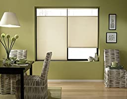 Custom Top Down Bottom Up Cordless Cell Shades, 46W x 45H, Daylight