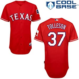 Shawn Tolleson Texas Rangers Alternate Red Authentic Cool Base Jersey by Majestic by Majestic