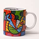 Disney by International Artist Romero Britto for Enesco Peace Love Mickey Mug 4.25 IN