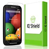 IQ Shield LiQuidSkin - Motorola Moto E Screen Protector - High Definition (HD) Ultra Clear Smart Film - Premium Protective Screen Guard - Extremely Smooth / Self-Healing / Bubble-Free Shield - Kit comes with Retail Packaging and 100% Lifetime Replacement Warranty