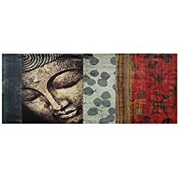 Oriental Furniture Peaking Buddha Statue Canvas Wall Art