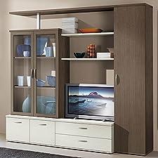 Set Soggiorno colonna vetrina libreria arredamento design casa mobile S6052RGBF