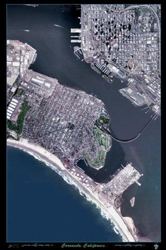 Coronado, California satellite map Poster