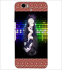 PrintDhaba Cute Girl D-3260 Back Case Cover for HUAWEI NEXUS 6P (Multi-Coloured)