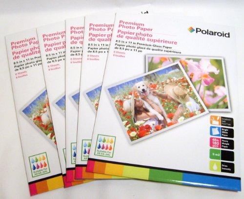 8 Sheets Per Pack Polaroid 8.5 X 11 Premium Glossy Photo Paper