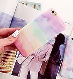 (リリレナ)LiLiRena レインボー スカイ パステル 虹 空 マーブル スマホケース iPhone6s iPhone6 iPhone6Plus ケース カバー シリコン キャラクター iPhone 6s アイフォン6(レインボー,iPhone6plus/6splus)