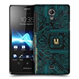 Head Case Black Circuit Board Protective Back Case Cover For Sony Xperia T LT30P