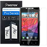 Insten Clear Screen Protectors / Covers Compatible with Motorola Droid RAZR XT910, 3-Pack Combo