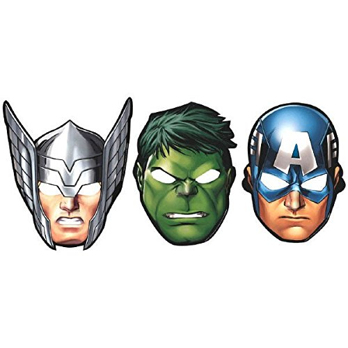 Marvel Avengers Hats/ Masks, 8 Count, Party Supplies (Paper Mask Party compare prices)