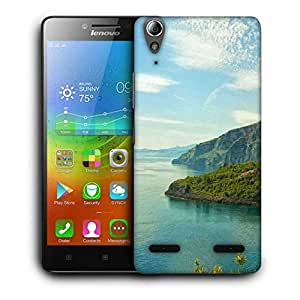 Snoogg Mixed Green Background Printed Protective Phone Back Case Cover For Lenovo A6000