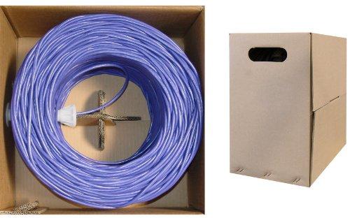 C&E 1000 feet 24AWG CAT5E 4PR Stranded  Ethernet Cable Purple