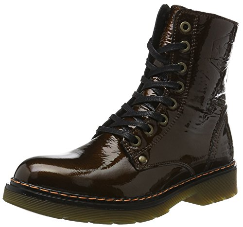 BULLBOXERLace-up Boots - Stivali Combat Donna , Marrone (Marrone), 41