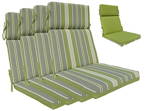bossima indoor outdoor green grey striped piebald high. Black Bedroom Furniture Sets. Home Design Ideas