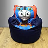 Character childrens bean chair with Printed Centre Panel, Thomas the Tank Engine