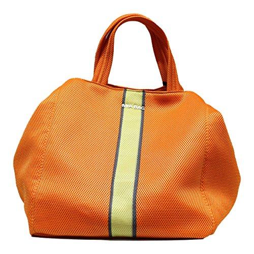 Borsa Mia Bag grande arancione di tessuto Art. 14327