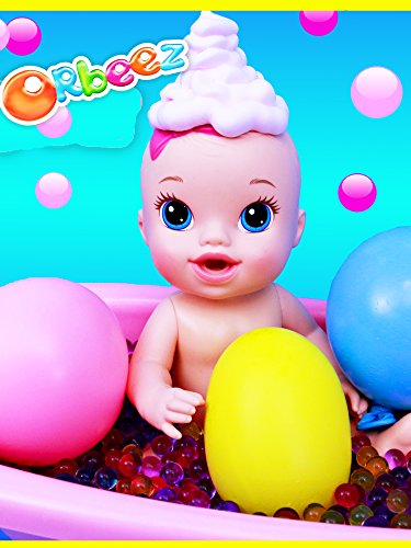 Baby Alive Bath Time Foam + Balloon Pop Surprise Toys + Orbeez Filled Bath & Giant Orbeez Balloons