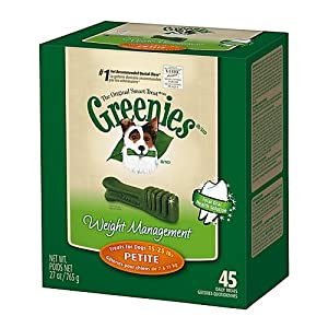 Greenies Lite Petite Dog Dental Chew 27oz 45ct