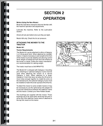 New Holland 451 Sickle Bar Mower Operators Manual (Sickle Bar Mower)