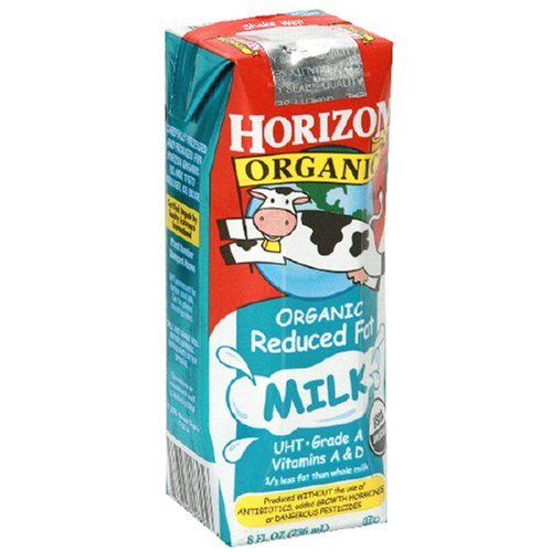 Horizon Organic Reduced Fat Milk, 8-Ounce Aseptic Cartons (Pack of 18)
