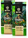 Cafe Britt Costa Rica Organic Shade Grown Ground Coffee, 12-Ounce Bags (Pack of 2)