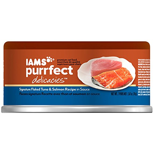Iams Purrfect Delicacies Signature Flaked Tuna & Salmon Recipe In Sauce