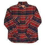 (クリフメイヤー) KRIFF MAYER ヘビー フランネル シャツ ジャケット ネルシャツ 厚手シャツ チェック柄 M 2_Red_Check KM1623102