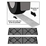 Set of 2 Auto Tire Snow Grabber Traction Mats Ice Mud Sand for Car Truck SUV
