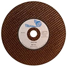 Falcon A60TBE Premium Ultra Thin Resinoid Bonded Double Reinforced Abrasive Cut-off Wheel, Type 1, Aluminum Oxide