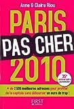 echange, troc Anne Riou, Claire Riou - Paris pas cher 2010