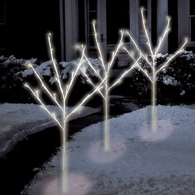 60 Light Led Twig Tree Pathmarkers Bulb Color: Warm White