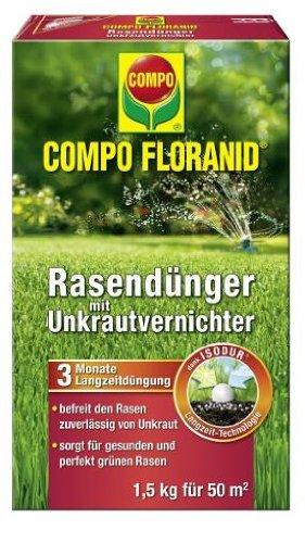Compo 13300 floranid fertilizzante per prato con for Diserbante per prato