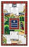 Scottish Recipes Tea Towel Souvenir Gift Scotland Cotton Tartan Food Featuring Porridge Oatcakes Haggis Shortcakes Scotch Broth Cullen Skink