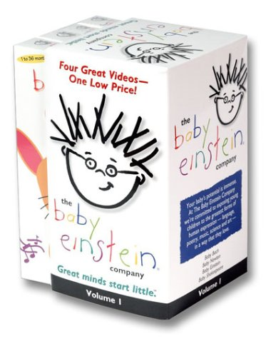 Baby Einstein Gift Pack Volume 1 (Baby Bach/Baby Newton/Language Nursery/Baby Shakespeare) [VHS]