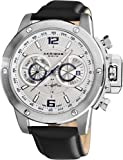 Akribos XXIV Mens AKR469WT Conqueror Multifunction Stainless Steel Swiss Quartz Strap Watch