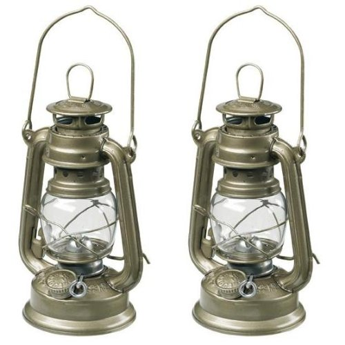 2x OUTWELL HURRICANE LANTERNS 28CM PARAFFIN FISHING NEW