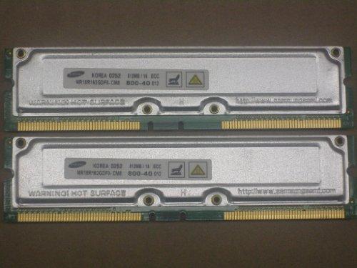 1GB (2x512MB) PC800-40 RDRAM RAMBUS RIMM Memory RAM Upgrade for Dell Dimension 8100, 8200, 8250