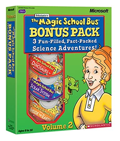 Magic School Bus 3-CD Bonus Pack Vol 2: Dinosaurs, Solar System & Earth [Old Version]