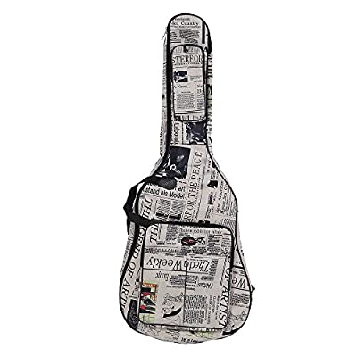 Andoer®Acoustic Classic Folk Guitar Case 600D Water-resistant Oxford Cloth Camouflage Blue Double Stitched Padded Straps Gig Bag Guitar Carrying Case for 41Inchs Acoustic Classic Folk Guitar
