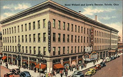 hotel-willard-and-loews-theater-toledo-ohio-original-vintage-postcard
