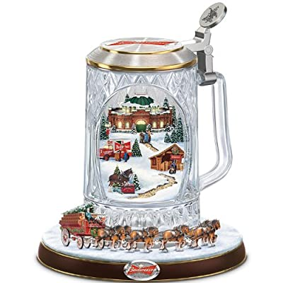 Budweiser Holiday Cheers Collectible Stein by The Bradford Exchange