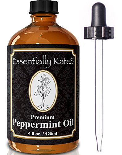 Peppermint-Essential-Oil-4-oz-with-Detailed-Users-Guide-E-book-and-Glass-Dropper-by-Essentially-KateS