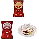 Gold Plated GL Pooja Thali Set,Silver Plated Royal Pooja Thali Set And Silver Plated Swastika Thali With Apple...
