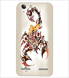 PrintDhaba scorpio D-1968 Back Case Cover for LENOVO A6020a46 (Multi-Coloured)