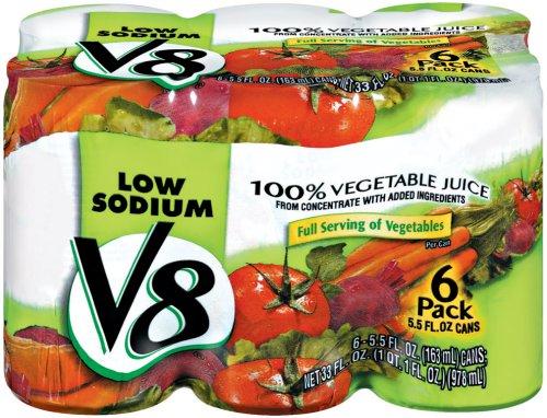 V8 100% Vegetable Juice Low Sodium 6 Pk - 5.5 Oz front-469453