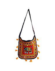RAJKRUTI Women Cotton Multi-Colour Handicraft Handbag - B00V39ODD2
