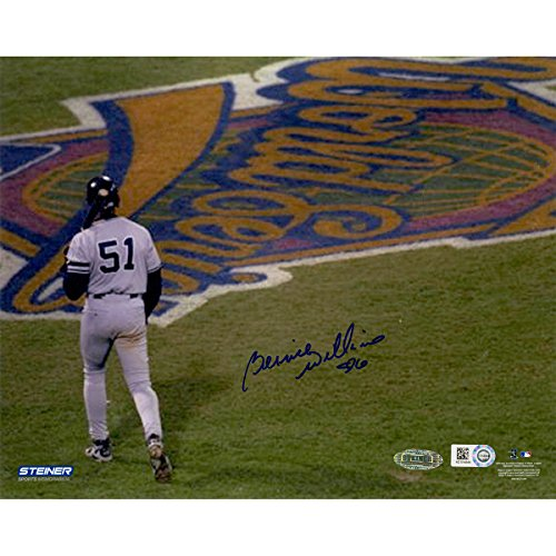 Bernie Williams Signed 1996 8X10 World Series Photo Getty#224278 front-974392