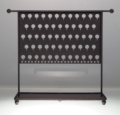 (EATM-Black) Angelynn's Earring Angel Pierced Earring Holder Tree - Jewelry Organizer Storage Rack - Display Stand
